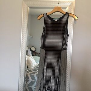 Francesca's Black and White Stripped Dress
